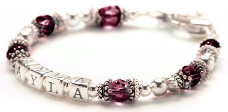 Personalized Baby Bracelet - Sterling Silver