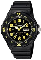 Casio Men's Sport Black/Yellow Analog Dive Watch MRW-200H-9BVDF