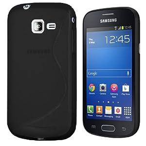 Silikon Hülle Samsung Galaxy Trend Lite S7390- S-Style Schwarz - TPU Case Cover Schutzhülle Tasche
