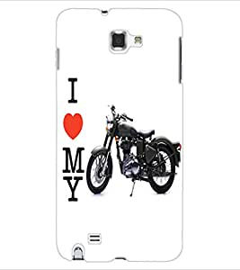 ColourCraft Bike Back Case Cover for SAMSUNG GALAXY NOTE 1