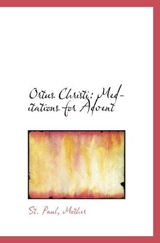 Ortus Christi: Meditations for Advent