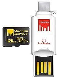 Strontium Nitro MicroSD with OTG Card Reader (SRN128GTFU1T)