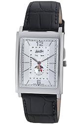 Jean D'eve Men's 807051AA.AA.K Tanga Silver Dial Black Alligator-Leather Watch