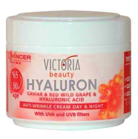 Hyaluron, Caviar & Red-Grape Anti-Wrinkle Lifting Day & Night Cream For Ages 50 To 65+ (50Ml)