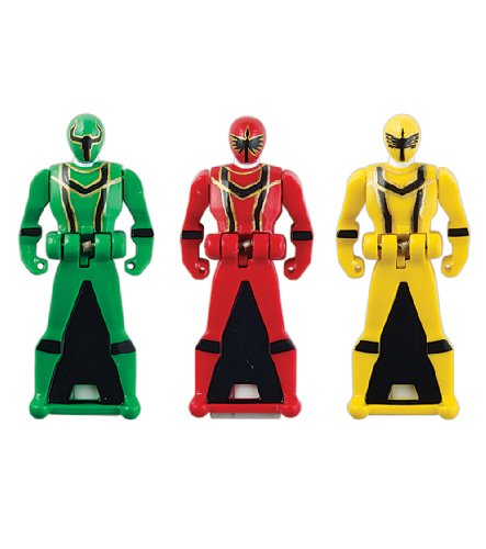 Power Rangers Super Megaforce - Mystic Force Legendary Ranger Key Pack, Red/Green/Yellow
