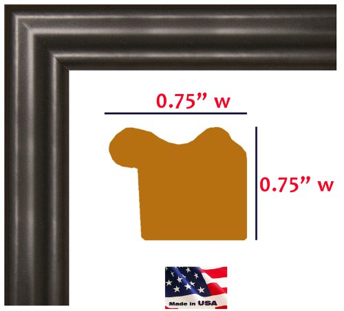 24x32 Custom Made Thin Black Picture Poster Frame Solid Wood .75 inch Wide Moulding (Poster Frame 32 X 24 compare prices)