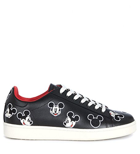 Basket MoA Mickey Mouse en cuir noir