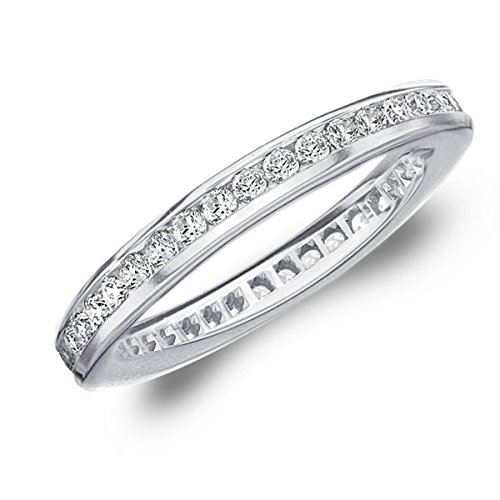 50-CTTW-Diamond-Eternity-Ring-in-14K-White-Gold-Diamond-Eternity-Wedding-Band-Anniversary-Ring
