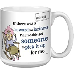 Tree-Free Greetings XM27813 Aunty Acid Artful Jumbo Mug, 20-Ounce, Reward for Laziness