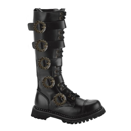 MENS SIZING Knee High Boots Gothic Combat Boots Steampunk Hardware