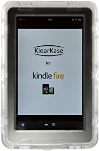 KlearKase for Kindle Fire - Splash-Proof, Transparent Case for Family or Outdoor Use - With Screen Protection (does not fit Kindle Fire HD)