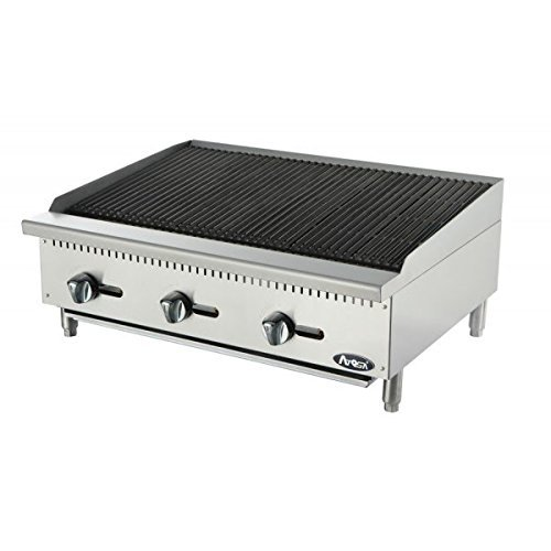 Atosa USA ATRC-36 Heavy Duty Stainless Steel 36-Inch Radiant Broiler - Propane