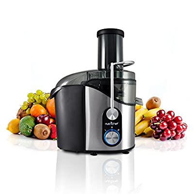 NutriChef High Power Juice Extractor, Juicer 800 Watt, Stainless Steel by NutriChef