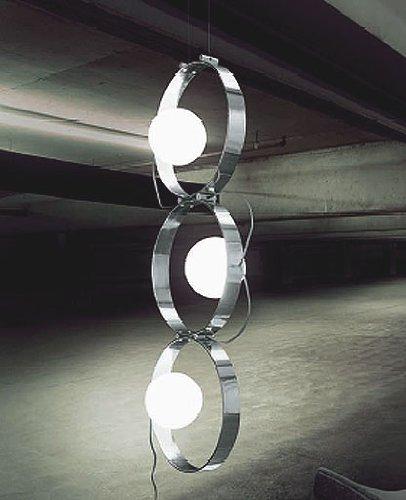 Giuko 3 suspended floor lamp - white, 110 - 125V (for use in the U.S., Canada etc.)