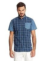 New Caro Camisa Hombre Anitra (Azul Medio)