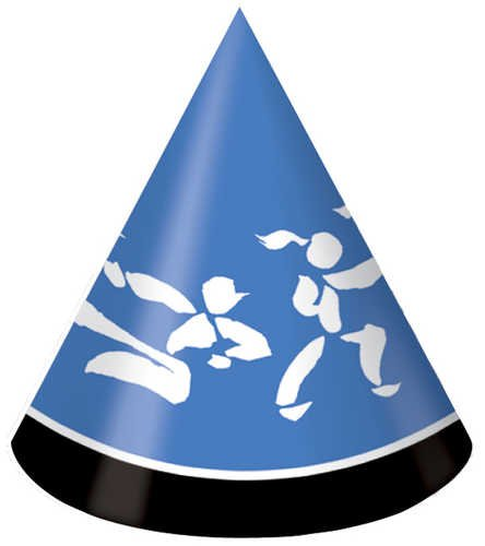 Black Belt Birthday Party Hats - 1