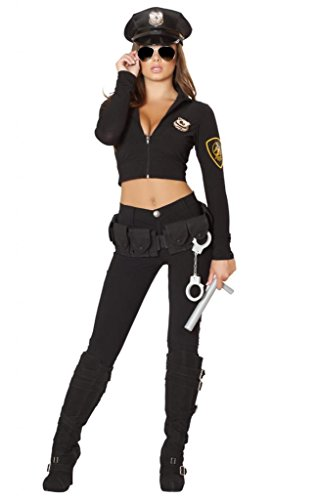 Sexy Long Sleeve Pants Police Girl Halloween Costume