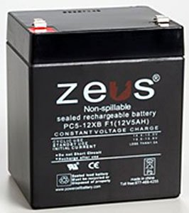 12 Volt 5 Ah F2 Alarm Battery (12v5ah , 12 V 5 Amp Hour , 12v 5ah)