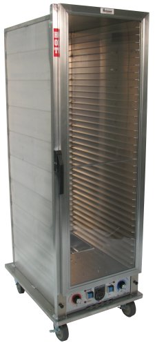 Lockwood CA67-PF34-CD-R Aluminum Full Height Non-insulated Economy Proofing and Heating Cabinet with Clear Door, 34 Pan Capacity, 22-3/8
