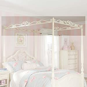 Jessica Mcclintock Romance 33 Twin Metal Canopy Frame by Lea