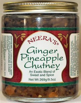 Ginger Pineapple Chutney-Exotic spices fresh chilies and honey 3 JarsB0000TI5JY : image