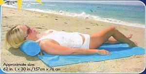 Comfort Beach Towel with Pillow - Black By Ashford Gear