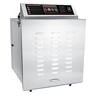 TSM 32629 14 Tray Digital Touch Screen Insulated Food Dehydrator with Stainless Steel Shelves by TSM Products