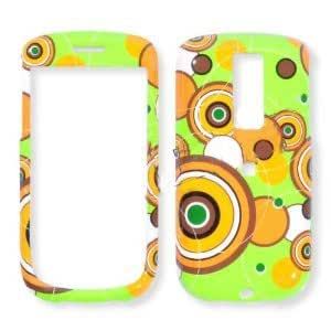 HTC G2 Colorful Circles on Lime Green Hard Case, Snap On Cover
