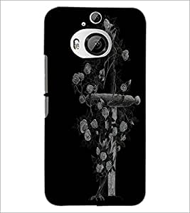 PrintDhaba Cross D-1996 Back Case Cover for HTC ONE M9 PLUS (Multi-Coloured)