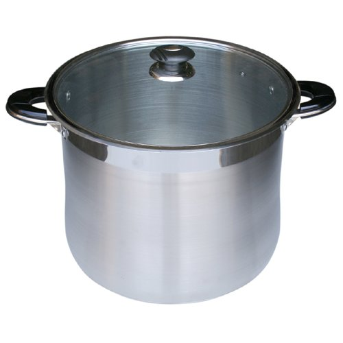 Alpha Heavy Gage 12 QT Stainless Steel Stock Pot with Glass Lid