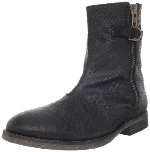 ksubi Men's Bren Boot, Black Embossed Snake, 45 EU/12 M US