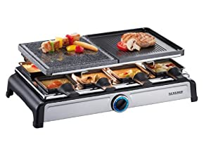 severin raclette party grill con pietra ollare rg 2619. Black Bedroom Furniture Sets. Home Design Ideas