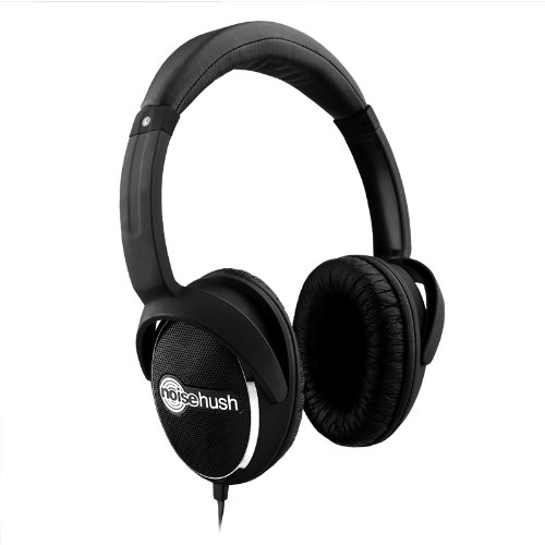 NoiseHush NX28i-12034 3.5mm Stereo Headphone with Function MIC for all Apple iPhone/iPad, Black