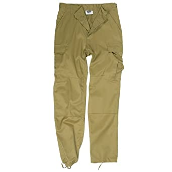Tactical Cargo Mens Trousers Army Combat BDU Style Pants Work Wear Coyote