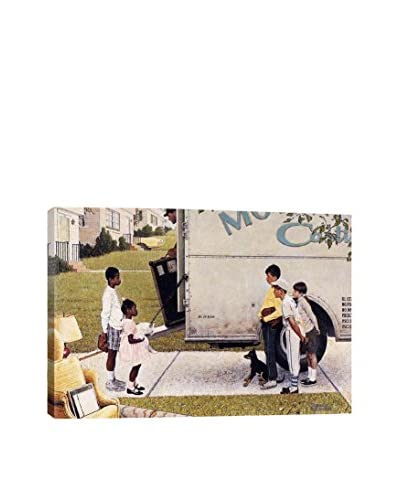 Norman Rockwell New Kids in the Neighborhood (Negro in the Suburbs) Giclée Print