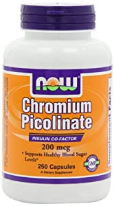 NOW Foods Chromium Picolinate 200mcg, 250 Capsules