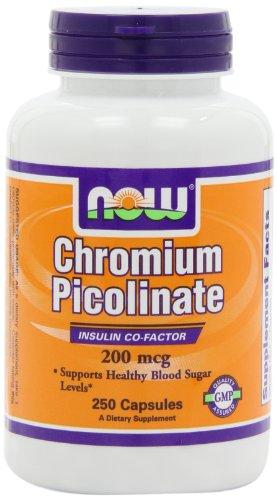 NOW Foods Chromium Picolinate 200mcg, 250 Capsules