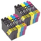 Odyssey Supplies - Compatible ink cartridges for epson printers epson stylus, sx420, sx425w, sx435w, sx440w, sx445w, sx525wd, sx535wd, sx620fw, bx925fw, office b42wd, bx305f, bx305fw, bx320fw, bx525wd, bx535wd, bx625fwd, bx635fwd, bx925fwd, bx935fwd (10