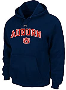 Auburn Tigers Mens Navy Under Armour Performance ColdGear Hooded Sweatshirt by Under Armour