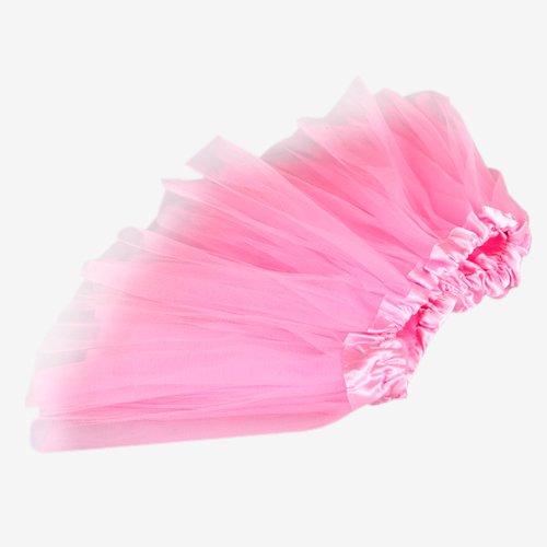 Kids Girls Toddlers Pink Ballet Dance Elastic Tulle Dress Skirt Tutu Fashion front-702290