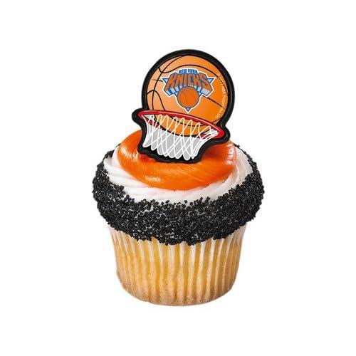 Amazon.com: Bag of 12 ~ New York Knicks Sticker Ring ~ Cake / Cupcake