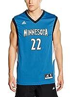 adidas Camiseta sin mangas Minnesota Timberwolves Wiggins (Azul / Negro)