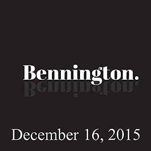 Bennington, December 16, 2015 Radio/TV Program