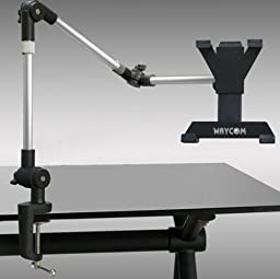 WAYCOM® Bed and Desk Mount for Posing Your iPad or Tablets For Easy and Relaxed Viewing (Silver)