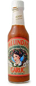 Melindas Garlic Hot Sauce Bottle 5 Fl Oz by AmericanSpice.com