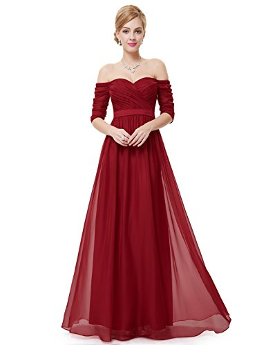 Ever Pretty Womens Empire Waist Black Tie Affair Dress 12 UK Red