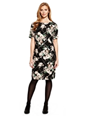 M&S Collection Floral Grid Tunic Dress