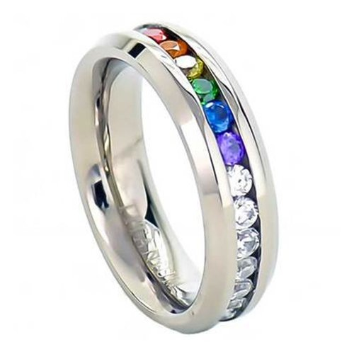 Inexpensive Gay Pride Wedding Rings (Or Engagement Rings for Gay ...: https://wizzley.com/cheap-same-sex-wedding-rings
