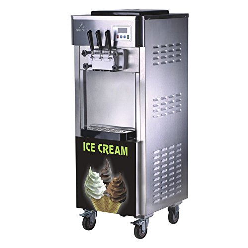 CECLE Soft Serve Ice Cream Machine 2+1 Mixed Flavor 3 heads Air Cooled Pump Feed 25l/H