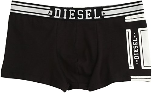 Diesel Uomo Boxer Shorts UMBX Shawn Pantaloni Boxer Intestazione - Nero - Nero, Nero, 7 (Tgl XL)